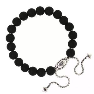 David Yurman Matte Black Spiritual Beads Bracelet